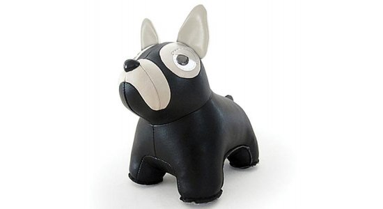 Züny Fransk Bulldog. SORT. Bogstøtte, dørstopper, pynt. FRAGTFRI